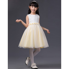 Affordable Little Grils Lovely A-Line Short Flowers Little Girls Easter/ Spring Dress