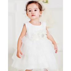 Infant Baby Girl Ball Gown Empire Waist Bubble Skirt Flower Girl Princess Dress