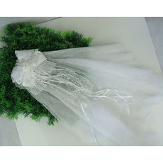 Pretty White Tulle Flower Girl Veils with Bows