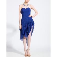 Junior Girls Beautiful Sheath Sweetheart Asymmetric Short Chiffon Homecoming Dress