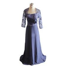 Cheap Vintage Designer Strapless Long Formal Mother Dress with Jackets