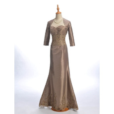 Modest Trumpet Sweetheart Long Formal Mother of the Bride Dress with Jackets