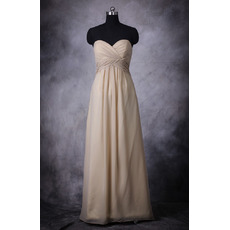 Custom Empire Sweetheart Floor Length Chiffon Bridesmaid Dress