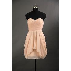 Designer Column Sweetheart Mini/ Short Chiffon Bridesmaid Dress