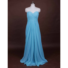2018 Custom Summer Sheath Sweetheart Long Chiffon Beach Bridesmaid Dress