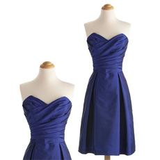 Women Elegant Sweetheart Sleeveless Knee Length Taffeta Short Cocktail Dress