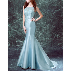 Affordable Designer Mermaid Long Satin Formal Evening Dress