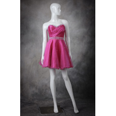 Hipster A-Line Sweetheart Short Taffeta High School Homecoming Dress