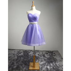 Junior Sweetheart Short Organza Lace-Up Homecoming Dress