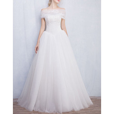 Beautiful Charming Ball Gown Strapless Wedding Dress with Detachable Wraps