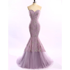 Discount Classy Mermaid/ Trumpet Sweetheart Long Lace Formal Evening Dress