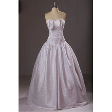 Retro Ball Gown Sweetheart Long Satin Formal Evening Dress