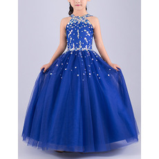 Affordable Pretty Ball Gown Sleeveless Floor Length Flower Girl Dress
