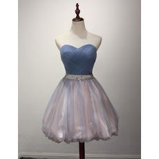 Affordable Sweetheart Short Taffeta Organza Homecoming Dress