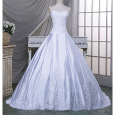 Classic Ball Gown Sweetheart Chapel Train Taffeta Wedding Dress
