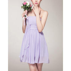 Sexy Empire Strapless Mini Chiffon Bridesmaid/ Homecoming Dress