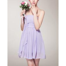Sexy Empire Strapless Mini Chiffon Bridesmaid/ Homecoming Dress
