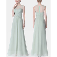 2018 Affordable Classy Sleeveless Long Chiffon Bridesmaid Dress