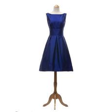 2018 Simple A-Line Short Taffeta Bridesmaid/ Wedding Party Dress