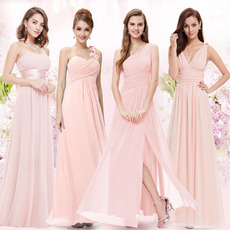 Elegant Long Chiffon Bridesmaid/ Wedding Party Dress with Different Styles