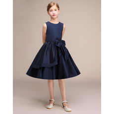 2019 New Style A-Line Knee Length Satin Junior Bridesmaid Dress