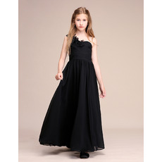 Affordable One Shoulder Junior Bridesmaid Dress