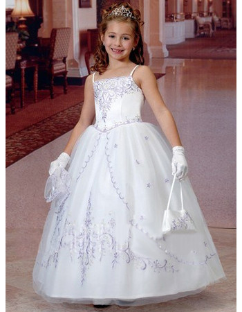 Beautiful Ball Gown Ankle Length Organza White First Communion Dresses with Lace Jackets
