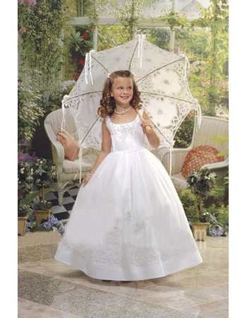 Classic Ball Gown Full Length Taffeta First Communion/ Flower Girl Dress