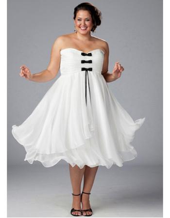 b91b0a5658e3 Inexpensive Casual A-Line Sweetheart Knee Length Chiffon Plus Size Evening  Dress - US$ 115.95 - iDreamBuy.com