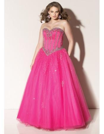 6f5bcb6884 Classic Princess Ball Gown Strapless Sweetheart Long Organza Plus Size Prom  Dress - US  172.95 - iDreamBuy.com