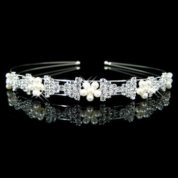 Cheap Beautiful Alloy With Flower Bridal Wedding Tiara