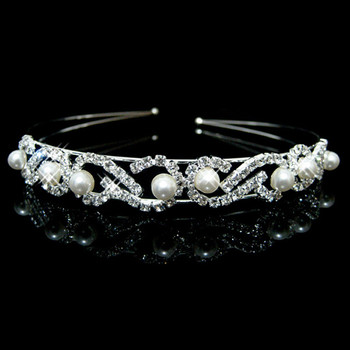 Affordable Beautiful Alloy With Pearl Bridal Wedding Tiara