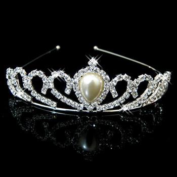 Cheap Beautiful Alloy With Pearl Bridal Wedding Tiara