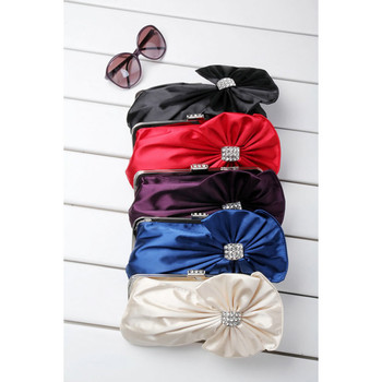 Cheap Beautiful Satin Evening Handbags/ Clutches/ Purses with Rhinestone