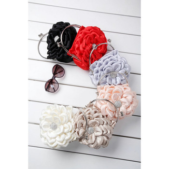 Affordable Satin Evening Handbags/ Clutches/ Purses with Flower