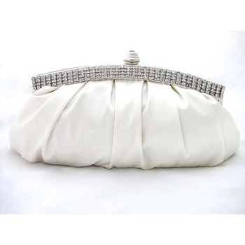 Affordable Satin Evening Handbags/ Clutches/ Purses with Rhinestone