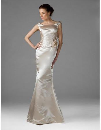 Designer Mermaid/ Trumpet Floor Length Taffeta Bridesmaid Dress for Women