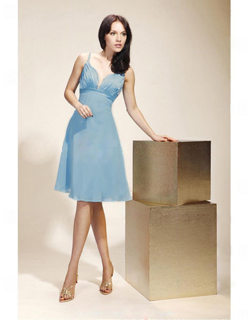 Cheap A-Line Sweetheart Knee Length Chiffon Bridesmaid Dress for Women