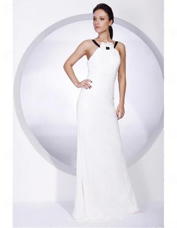 Sheath/ Column Floor Length Chiffon Bridesmaid Dress for Women