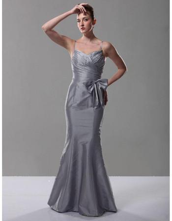 Classic Mermaid/ Trumpet Spaghetti Straps Prom Evening Dress