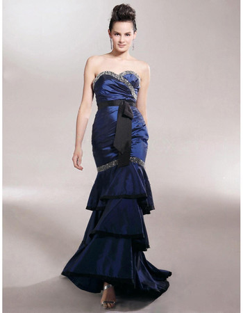 Designer Retro Mermaid/ Trumpet Sweetheart Taffeta Prom Evening Dress