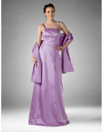 Vintage Satin Floor Length Prom Evening Dress for Women