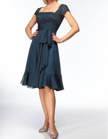 Designer A-Line Knee Length Chiffon Mother of the Bride/ Groom Dress