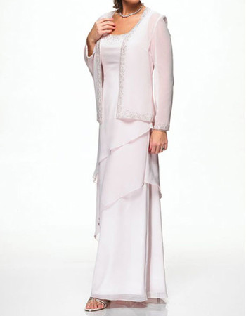 Custom Floor Length Chiffon Mother of the Bride/ Groom Dress