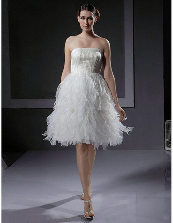 Designer Charming A-Line Strapless Short Informal Dress for Wedding Reception