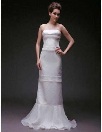 Vintage Mermaid/ Trumpet Strapless Floor Length Wedding Dress