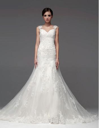 Designer Classic A-Line Sweetheart Chapel Train Wedding Dress