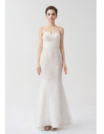 Elegant Mermaid/ Trumpet Sweetheart Court Train Wedding Dress