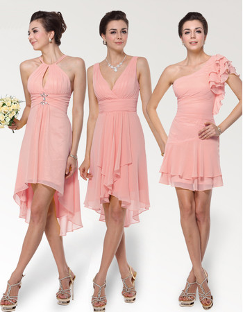 outlet store sale fast color speical offer Affordable Short Chiffon Bridesmaid Dress for Maid of honour
