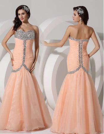 Amazing Mermaid Sweetheart Long Chiffon Evening Prom Dress for Women